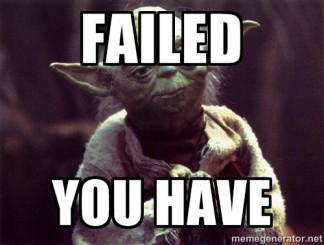 Master Yoda Grade Book Fail
