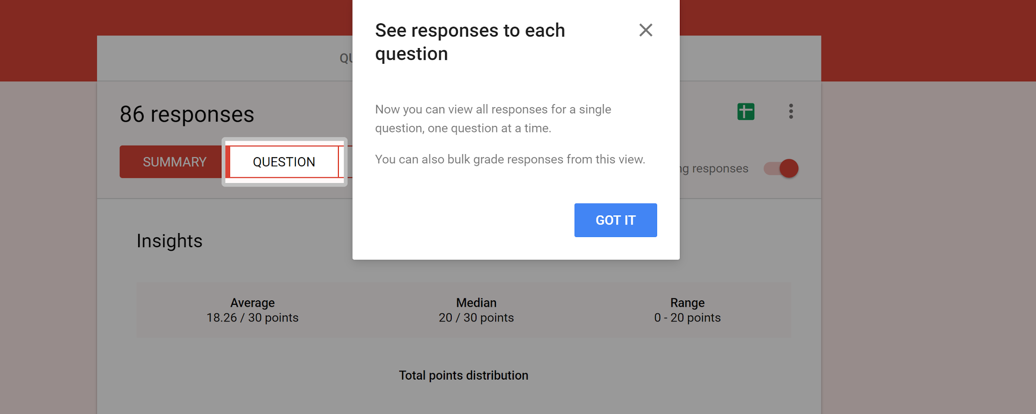 New Grading Features of Google Forms