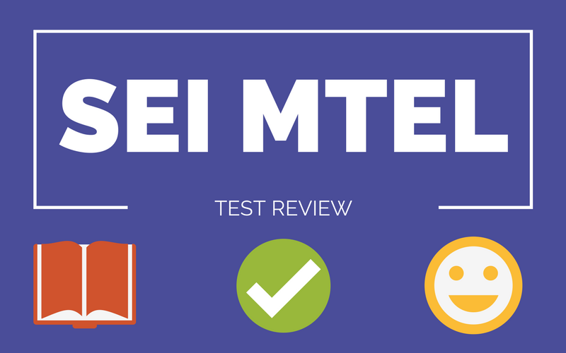 SEI MTEL TEST REVIEW COURSE
